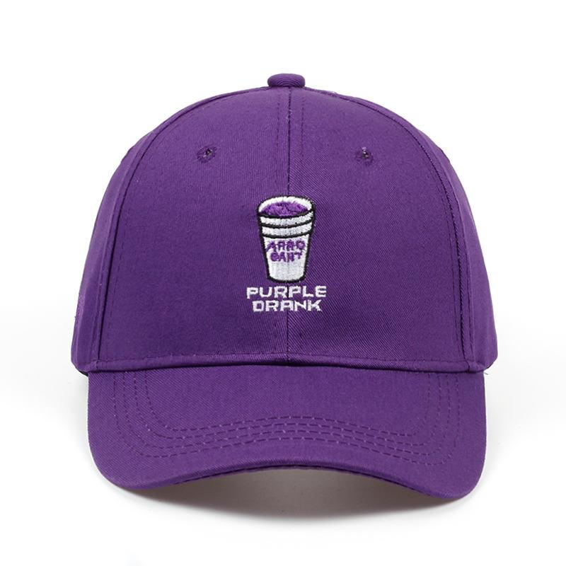2018 Brand New Adult Adjustable Baseball Cap Men And Women Fashion Hip-hop Cap Letter PURPLE DRANK Embroidery Black Hat