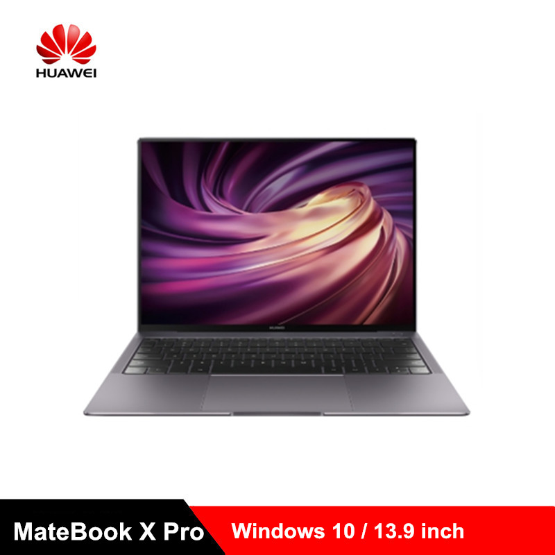 2019 HUAWEI MateBook X Pro ordinateur portable 13.9 pouces Windows 10 ordinateur portable Intel Core i5 8265U/i7 8565U 8 GB RAM 512 GB SSD PC écran tactile