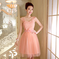 PTH-538FS#Real photos prom dress wholesale custom company will host the 2016 spring new bride toast short Bridesmaid dress Pink