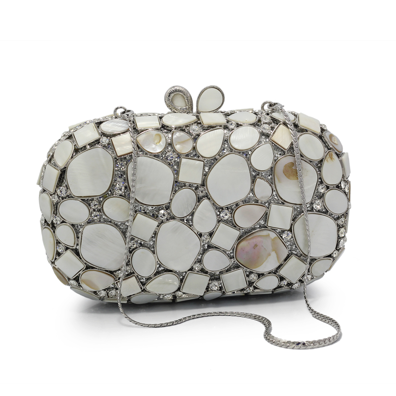 New Women Crystal Bag Ladies White Diamond Gold Wedding Evening Clutches Bags Girls Party Bag High Quality(88223-SS) free shipping a15 48 blue color fashion top crystal stones ring clutches bags for ladies nice party bag