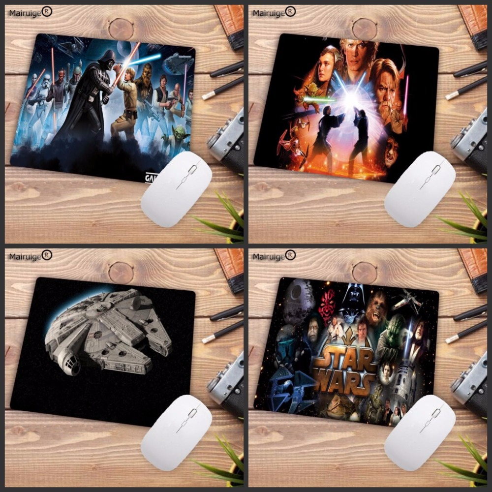 Mairuige Star wars Movie Best Soft Gaming keyboard Mouse Games Black Desk Mousepads for PC Computer Office Game Player Mice Mat image