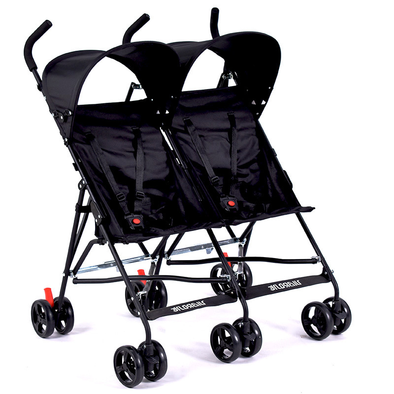 7.8 Travel Portable Double Stroller For Twins Folding Umbrella Baby Cart Strollers Twins Umbrella Stroller image