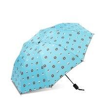 Folding umbrella Flower UV protection Sun Three-folding Umbrella Cute cartoon pattern