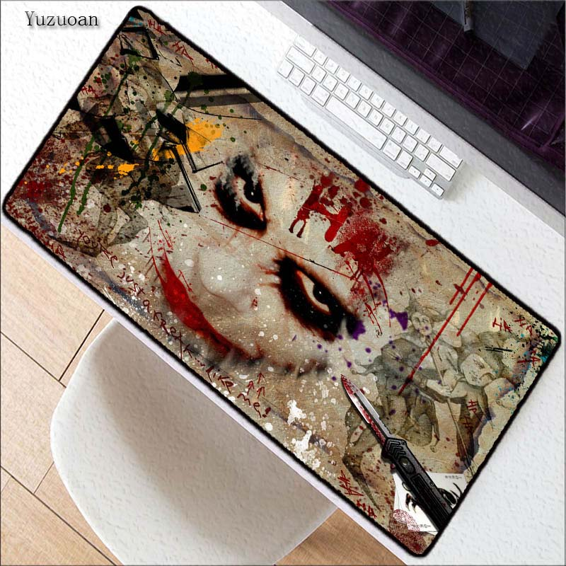 Yuzuoan Jack Large Overlock mouse pad Desk pad mouse laptop mousepad best seller gaming padmouse gamer of Legends mouse mats