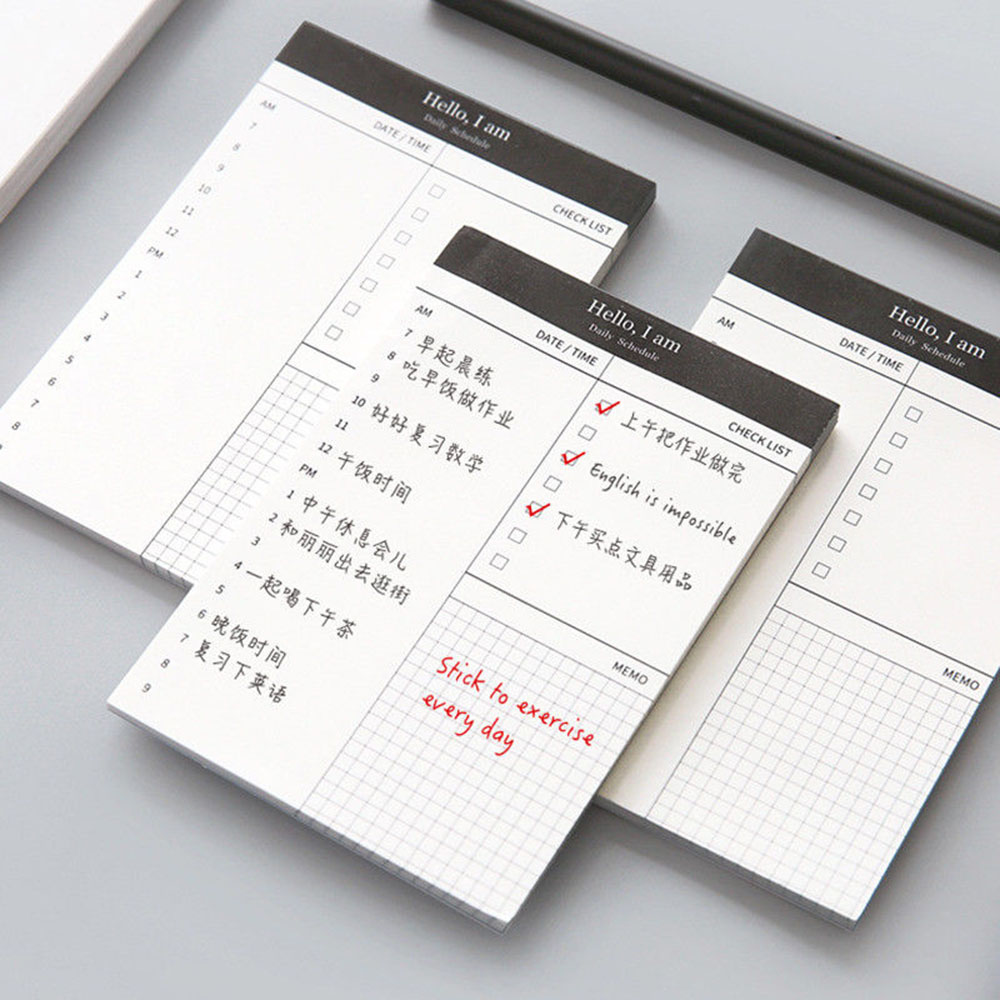 Small Paper Memo Pad Daily Planner Office Desk Check List Notepad To Do List Schooll Office Stationery