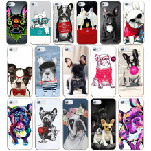 108DF French Bulldog Art Hard Transparent Cover Case for iphone 4 4s 5 5s se 6 6s 8 plus 7 7 Plus X(China)