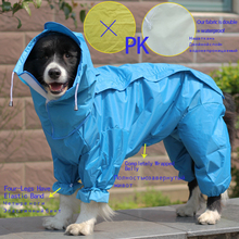 BENMEI 2018 Pet  Small Large Dog Raincoat Clothes Pet Dog Raincoat Hoody Waterproof Rain Lovely Jackets Coat Apparel Clothes