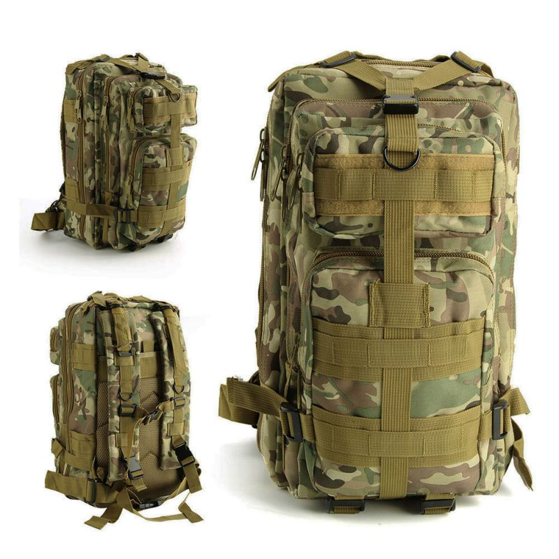 Hiking Camping Mil-Tec Military Army Patrol 25L MOLLE Assault Pack Tactical Rucksack Combat Backpack Bag 600D Nylon 2018 New цена
