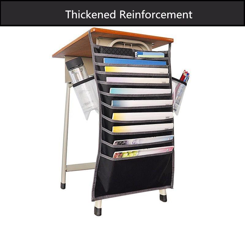 Многофункциональная подвесная сумка для книг, Студенческая сумка для хранения книг, регулируемая сумка для хранения книг, органайзер для книг - Цвет: Черный