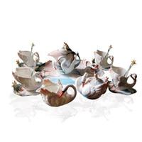 Посуда для напитков Лебедь керамические Европейский чайный сервиз кофейный набор эмаль кофейный набор передовых подарок Фарфоровые Беспл