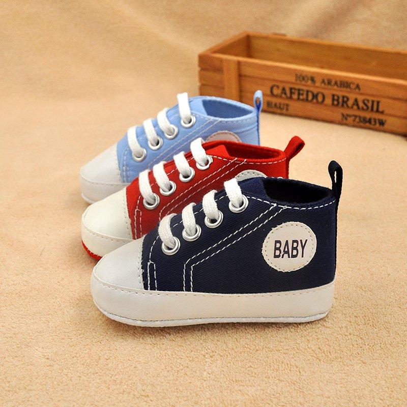 Классический Холст для новорожденных для маленьких мальчиков девочки во-первых ходунки для малышей мягкая подошва противоскользящая обув...