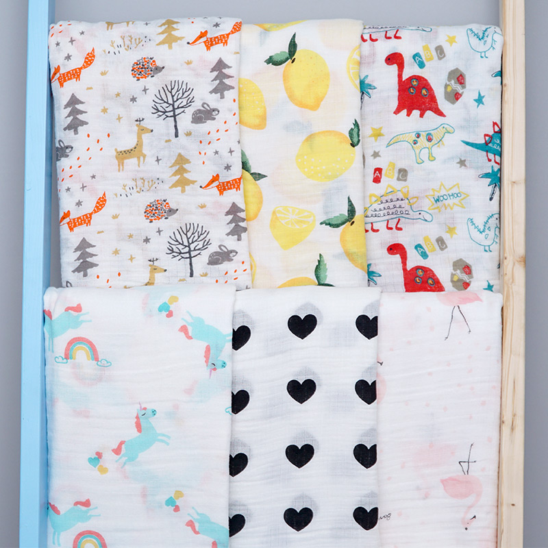 Muslin Diaper Baby Receiving Blankets Newborn Bath Towel Infantil Swaddle Soft Cotton Baby Bed Crib Accessories Wrap Sleepsack