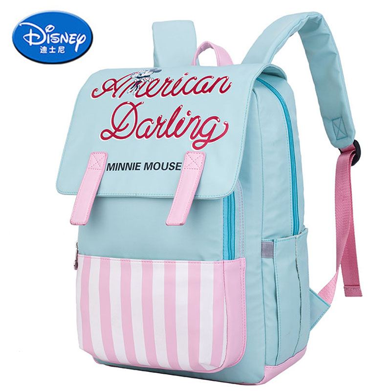 Disney Minnie Large Capacity Diaper Bag Backpack Maternity Mummy Nursing Bag Baby Travel Backpack For Baby Care Nappy Bag