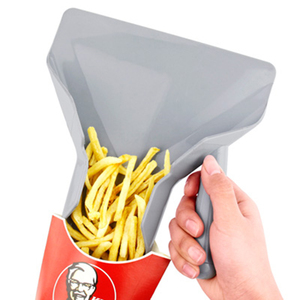Useful Chip Scoop Food French Fries Food-grade Plastic Shovel Fry Scoop With Handles Grip