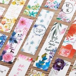 30 pçs poema & flor marcadores para livros papel página marcador cartão de memorando papelaria escritório material escolar separador de libros a6476