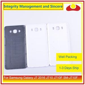 Image 4 - מקורי עבור Samsung Galaxy J7 2016 J710 SM J710F J710M J710H J710FN שיכון סוללה דלת אחורי כיסוי אחורי מקרה מארז פגז
