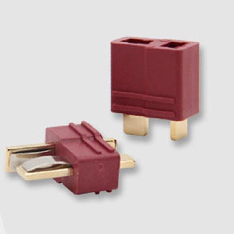 2sets/lot All copper tape jacket T plug anti - slip large current gold - plated connector power plug socket model die