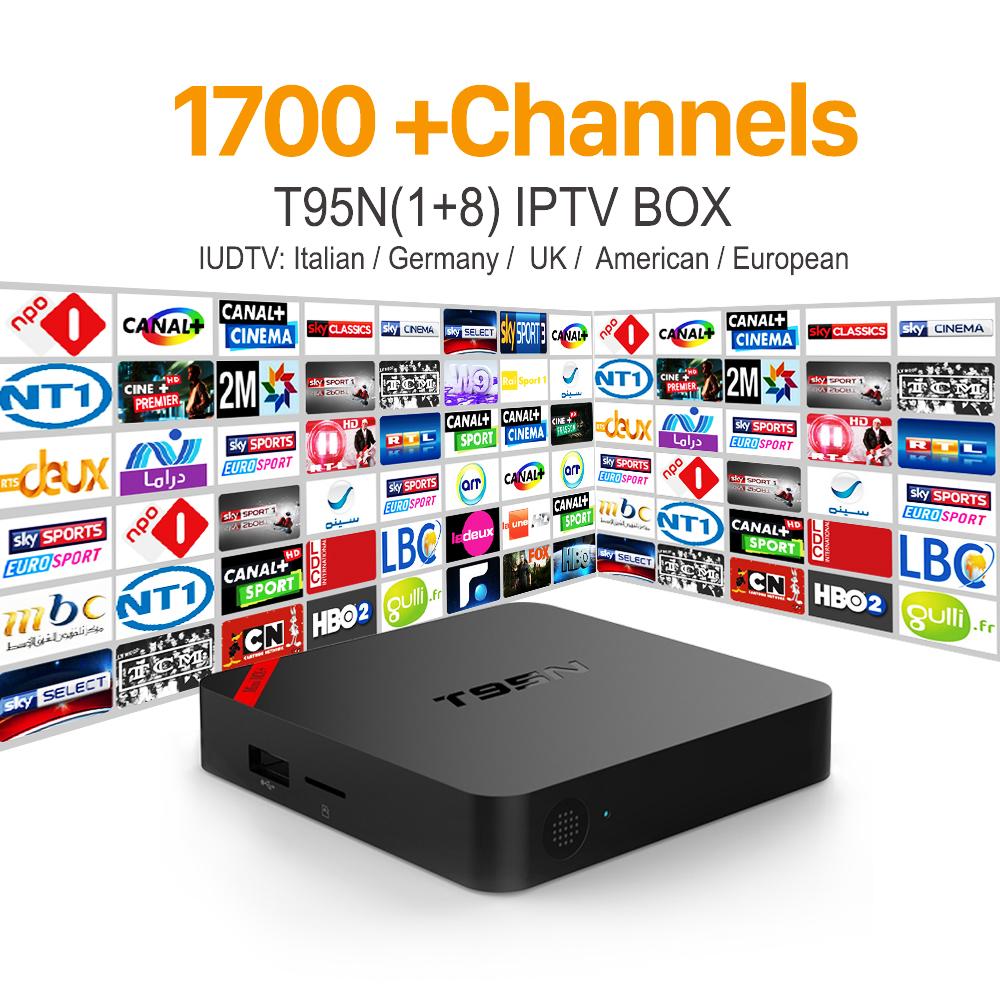 Prix pour Européenne Arabe IPTV Box Android 6.0 TV Box avec Livraison IUDTV IPTV Abonnement Français Italie Suède Pays-Bas IPTV Media Player