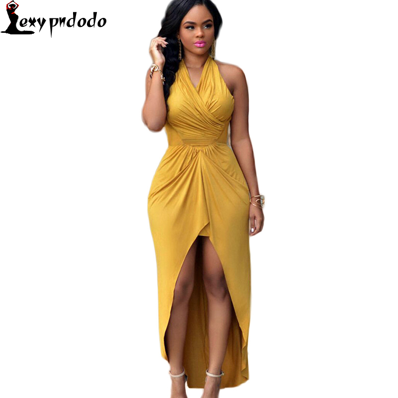 2016 New Arrival Sleeveless Patchworks Spaghetti Strap Backless Zipper Hollow Out Asymmetrical Womens Sexy Long Dresses Clubwear