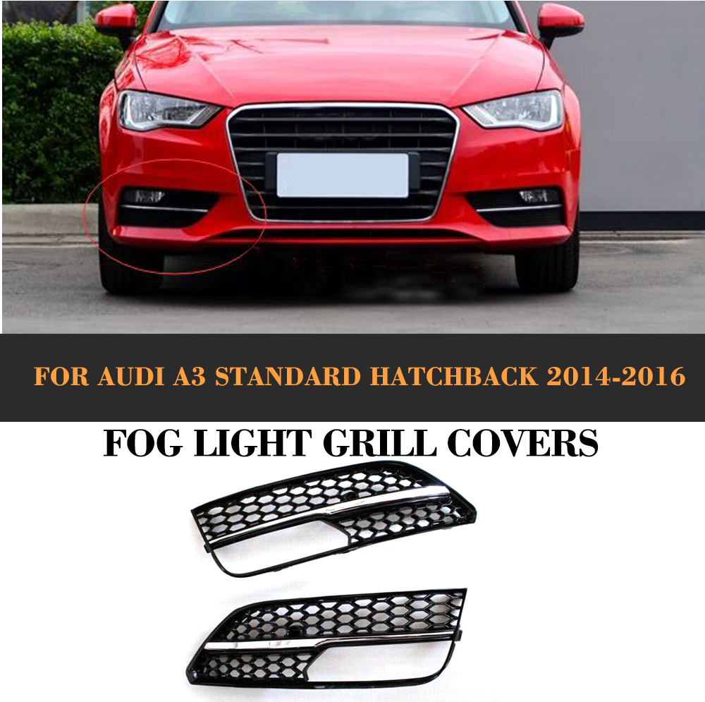 ABS car front Fog light lamps cover box for Audi A3 Sportback Standard Hatchback 4 Door Only 14-16 Non Sline RS3