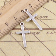 15pcs/lot Charms Cross 13x27mm Tibetan Pendants Antique Jewelry Making DIY Handmade Craft For Bracelet Necklace 12pcs lot charms retro camera 15x14mm tibetan pendants antique jewelry making diy handmade craft for bracelet necklace