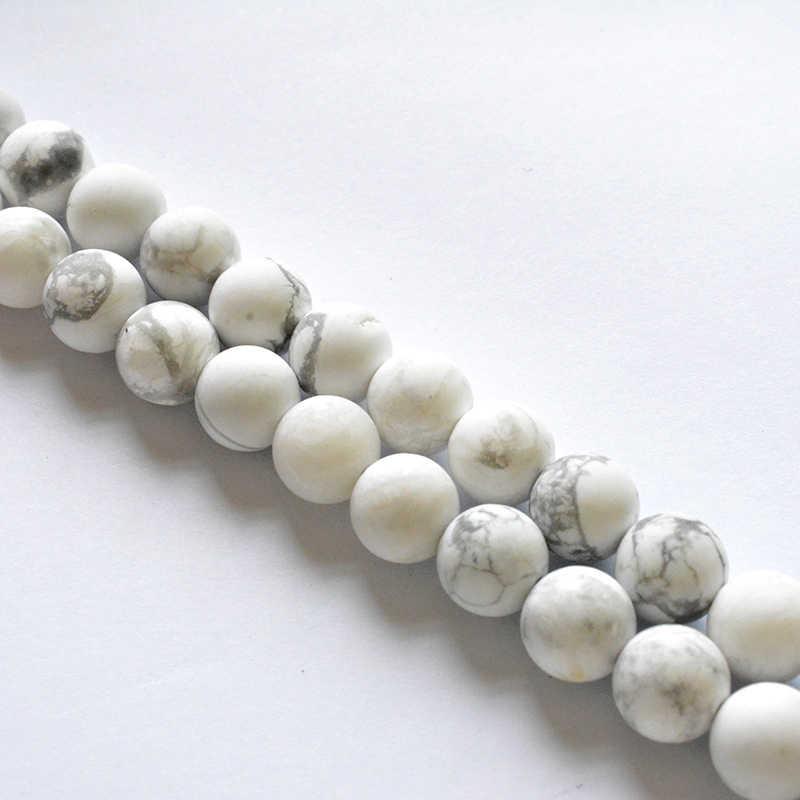 טבעי אבן משעמם פולני מט חלבית Agates רוז Quartzs אבני טורקיז Loose חרוזים DIY עבור תכשיטי ביצוע צמיד שרשרת