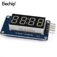 5 шт./лот 4 биты TM1637 красный цифровой трубки LED Дисплей Модуль и часы для Arduino LED