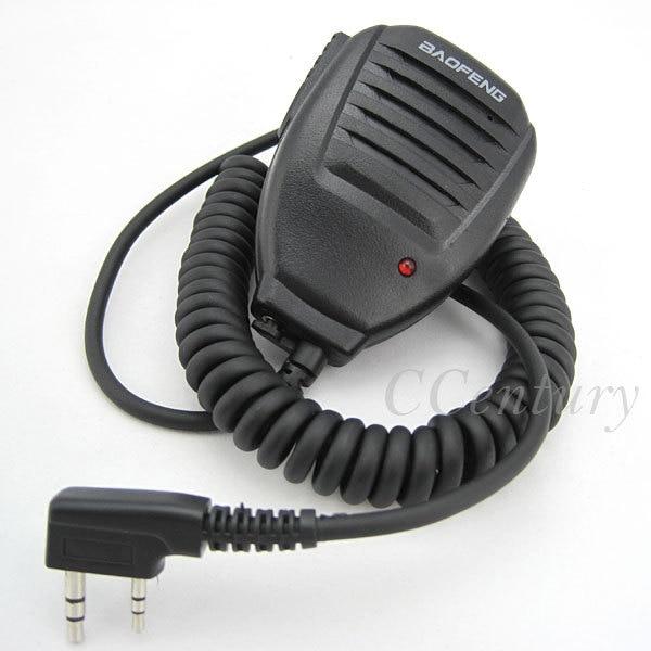 bilder für 2 stücke original tragbare lautsprecher mic für baofeng cb radio walkie Talkie UV 5R UV-5R GT-3 UV-5RE Plus UV-3R + UV-B5 UV-B6 BF-F8 +