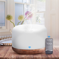 3 In 1 500ml Mist Air Humidifier 7 Color Lights Essential Oil Aroma Diffuser Purifier With
