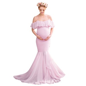 Formal maternity long dresses pregnancy clothes pregnant dress summer maternity  gowns for baby shower photography womens P20