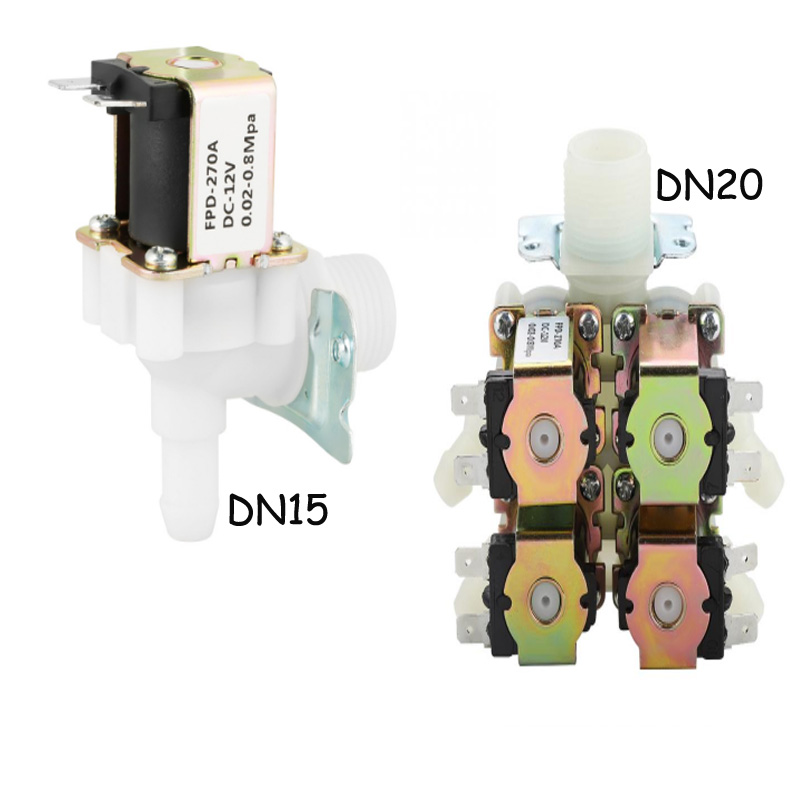 Solenoid Valve G3//4 1 in 4 Out Electromagnetic Valve Normally Closed Water Drain ValveN//C DC 12V DN20
