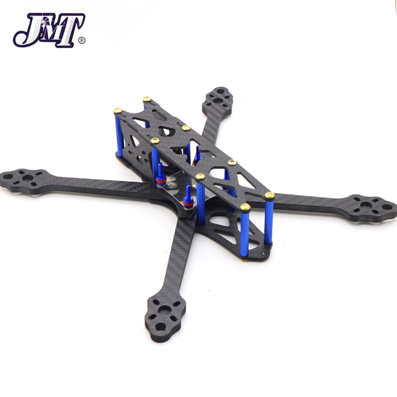 JMT Wheelbase 255mm X Frame Kit Carbon Fiber Frame Kit With 5mm Arm For DIY FPV Drone Quadcopter