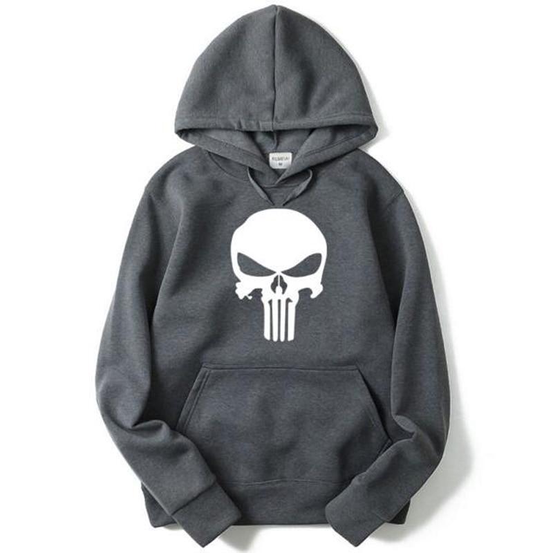 5964f2d824e4bd Autumn Winter Punisher Skull Hoodies Men Cotton Marvel Comics Hoodies  Sweatshirt Men Hoodies – Fan Busters