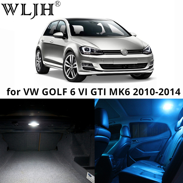 wljh 11x led licht lamp dome interieur bulb auto interieur verlichting kit voor vw golf