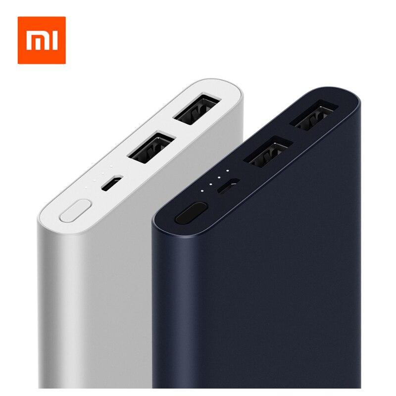 2018 Original Xiao mi banco de energía 10000 mAh Dual USB de salida 18 W de carga rápida 10000 mAh banco de energía paquete de batería externa