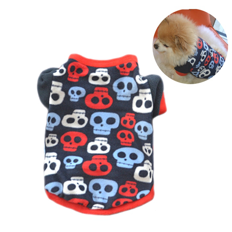 Halloween Pet Comfortable and Breathable Vest Dog Cool Costume Skulls Patterns
