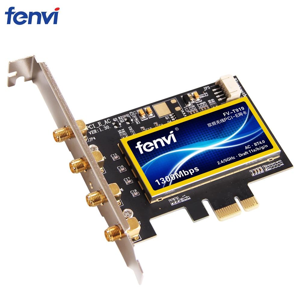 Fenvi double bande 1300 Mbps PCI Express adaptateur sans fil de bureau Broadcom BCM94360 carte Wifi 802.11ac pour Hackintosh/Mac OS/Windows - 5