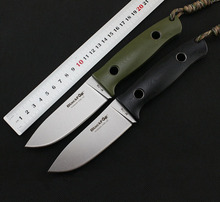 High Hardness FOX Outdoor Straight Knife Stonewashed D2 Steel G10 Handle Camping Survival Knives Rescue Tools Hunting Knife