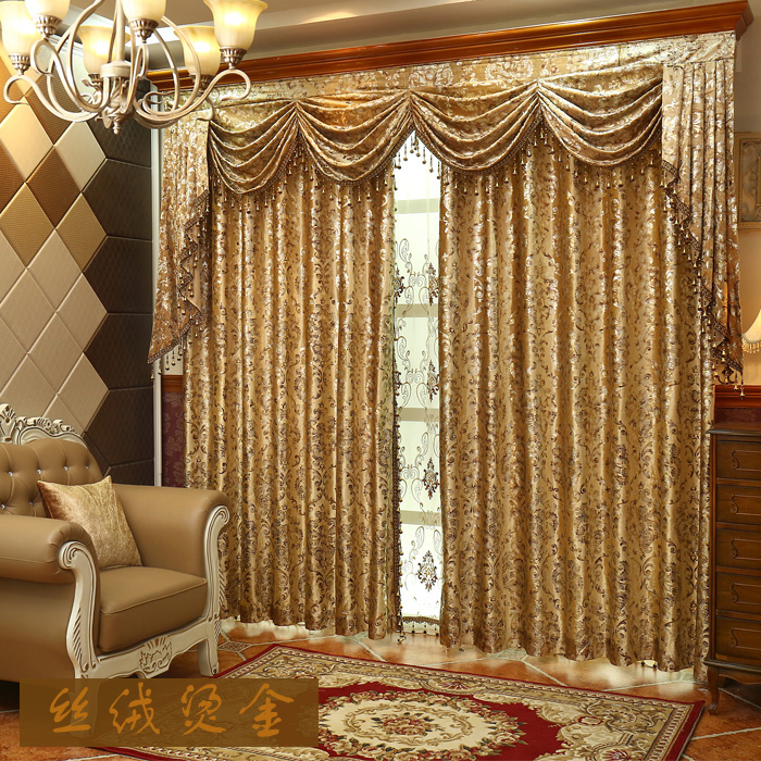 Luxruy High Grade Golden Velvet Window Shade Embroidery Curtain Curtains For Bedroom Room Free Shipping In From Home Garden On Aliexpress