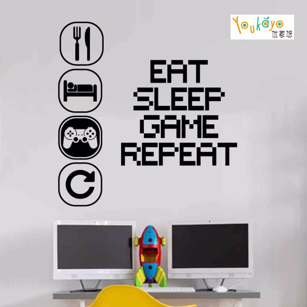 Aliexpress buy eat sleep play wall sticker mural vinyl decal aliexpress buy eat sleep play wall sticker mural vinyl decal children room gamers art teenager from reliable sticker mural suppliers on addylong store amipublicfo Gallery