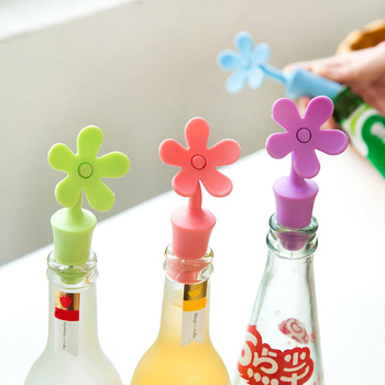 Creative Design Silicone Wine Bottle Stopper Bar Kitchen Cruet Gadgets Cool Accessories Home Bars Household Preservation Tools 1