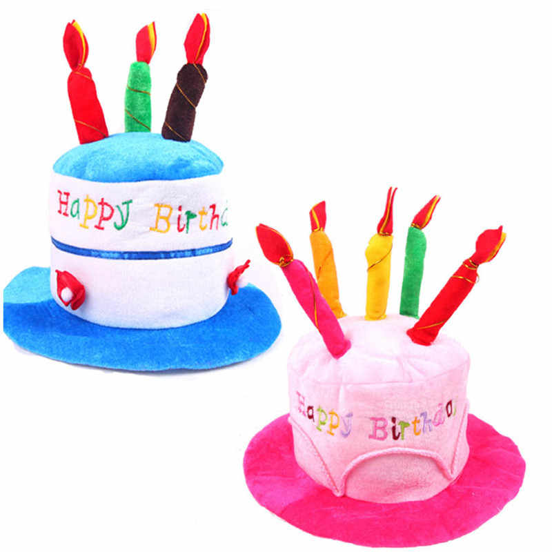 Brilliant Children Boy Girl Happy Birthday Cake Candle Funny Hat Party Pink Personalised Birthday Cards Sponlily Jamesorg