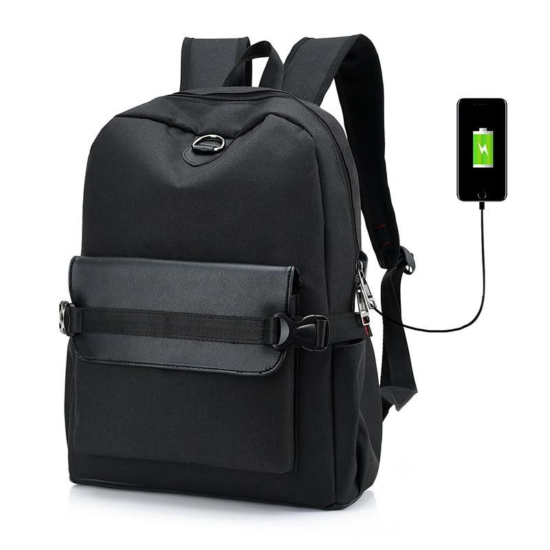 Canvas Backpacks for Men Women School Bags Teenagers Boys Girls Travel Large Capacity Laptop Backpack USB Charging Men Backpack все цены