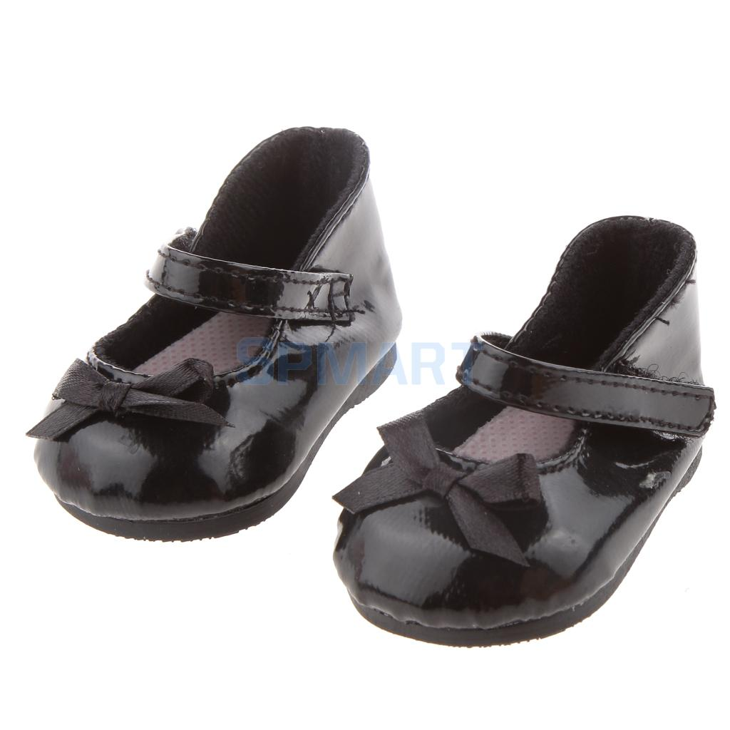 Fashion Black Shoes With Bow for 18 American Girl Dolls
