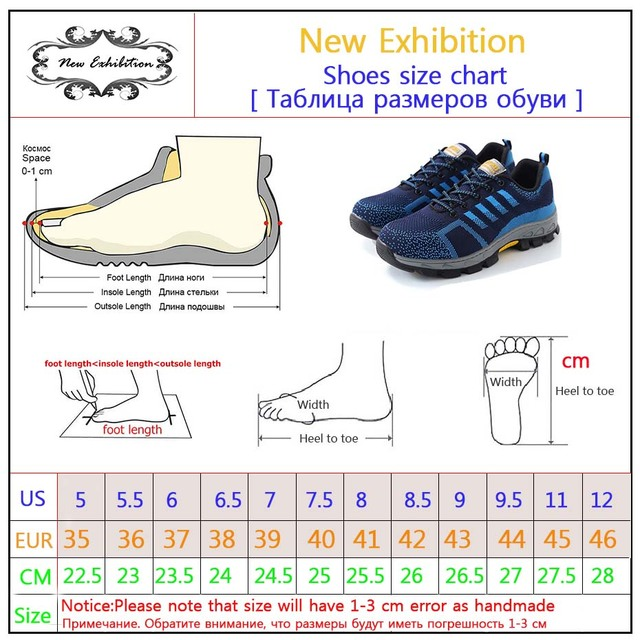New exhibition Men Steel Toe Safety Work Shoes Breathable men shoe sneakers Anti-piercing anti-slip wearable Protection Footwear 5