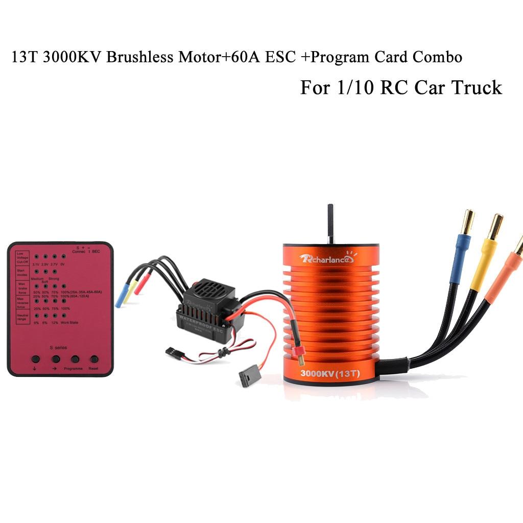 1//10 RC Car Truck Rock Crawler 60A ESC 13T RC Car Motor RC Car Accessories