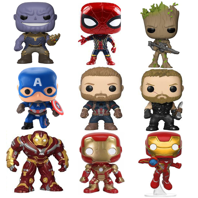 Marvel Avengers 3 Infinity War Thanos Captain America Iron Man Action Figure Thor Toy Spiderman Black Panther PVC Model Dolls