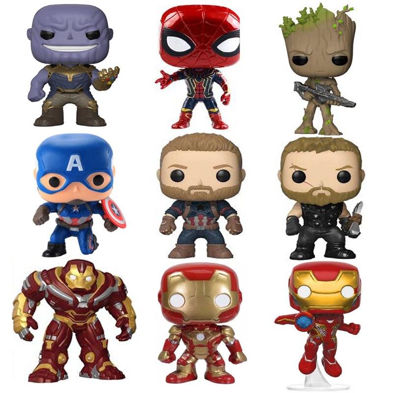 Marvel Avengers 3 Infinity War Thanos Captain America Iron Man Action Figure Thor Toy Spiderman Black Panther PVC Model Dolls