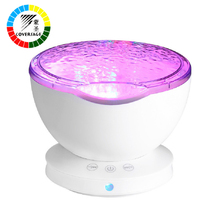 Coversage Night Light Star Sky Ocean Wave Music Player Projector Baby Kids Sleep Romantic Led Starry Star Master USB Aurora Lamp