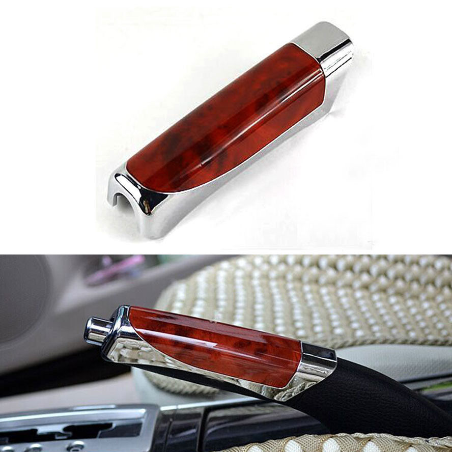 BBQ@FUKA 1pc ABS Handbrake Hand Brake Cover Trim Fit For Mitsubishi PAJERO New Auto Motor Car Styling Decoration